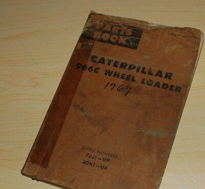 Cat Caterpillar 966c Loader Parts Manual A Book 76j 30k Catalog Pay Wheel Spare