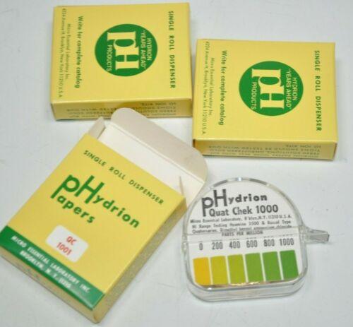 Lot 3 NEW HYDRION QT-1001 Sanitation PH Test Paper Single Rolls