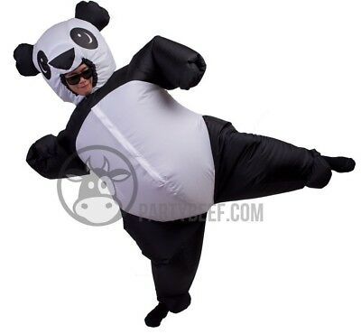 Birthday Suit Halloween Costumes (Inflatable Panda Costume Fat Kung-Fu Suit Halloween Birthday Party USA)