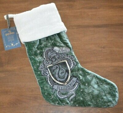 Pottery Barn Teen Harry Potter Slytherin House Christmas Stocking Green Snake
