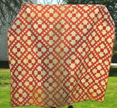 Vintage Hand Stitched Lancaster County, Pa  Quilt