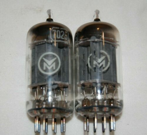 Pair of Strong Vintage 1959 RCA / Vioce of Music 7025 12AX7 ECC83 TUBES