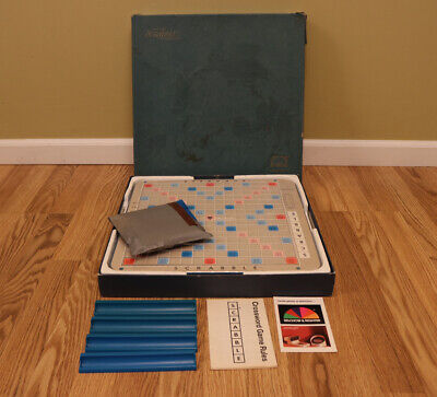 Vintage Scrabble Deluxe Edition Board Game 1977 Selchow & Righter Complete