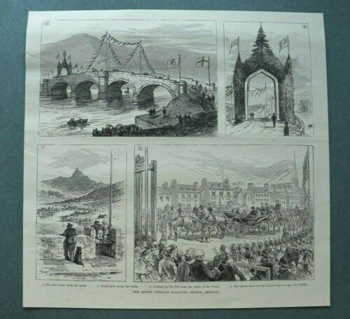 L1e%29+Holzstich+Ballater+1885+Queen+opening+Bridge+Deeside+Kutsche+H%C3%A4user+26x25cm