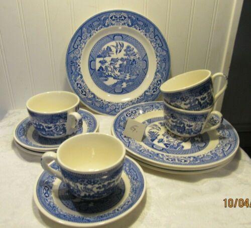 Willow Ward Blue Dish by Royal China 12 PC SERVICE SET