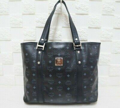 100% Authentic MCM Visetos Black Large Shopper Bag