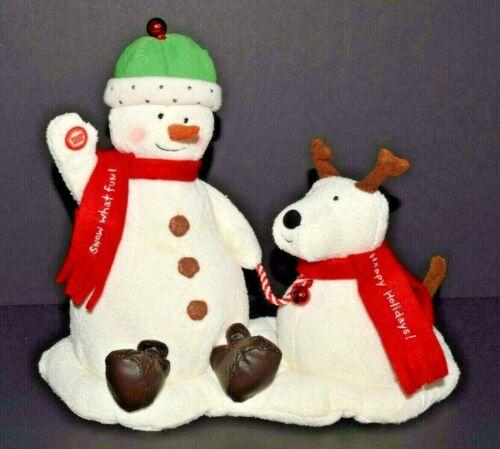 Hallmark 2004 Jingle Pals SNOW WHAT FUN Animated Singing Snowman Dog Duo