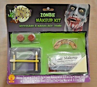 Halloween Rubies ZOMBIE Makeup KIT Costume Child Adult FACE Washable Fake BLOOD - Washable Fake Blood Halloween