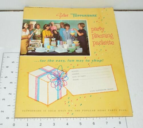 Tupperware Party Planning Packette VTG Folder Forms Welcome Pack 1968 Rexall