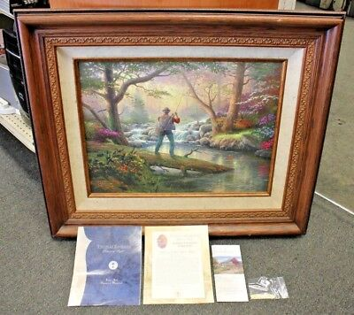 Thomas Kinkade 'It Doesn't Get Much Better' Framed Canvas Painting