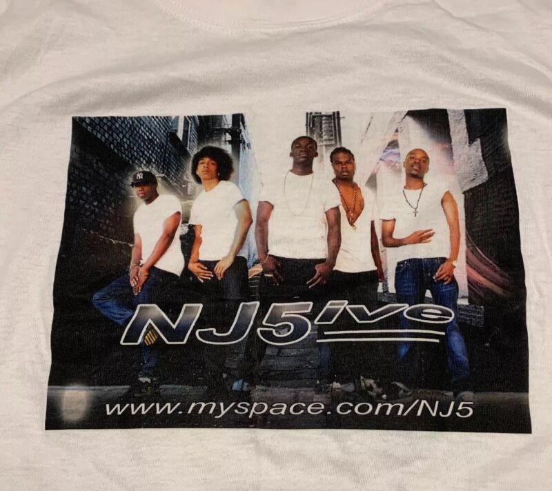 Nj5ive T-shirt Sz L Myspace Boy Group R&B 2008 Unworn