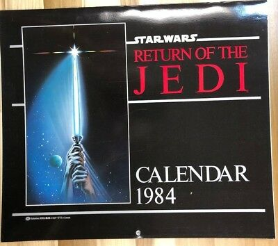 STAR WARS Return of the Jedi 1984 Ballantine Color Wall Calendar FINE unused