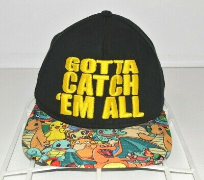 Pokemon Original Snapback Hat Gotta Catch Em All Nintendo Baseball Cap