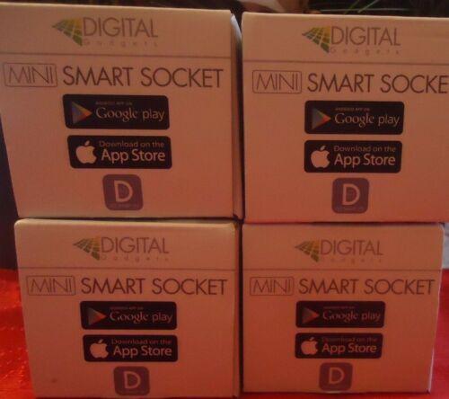 Alexa-Enabled Mini Smart Sockets Digital Gadgets 4-Pack  QVC # E232120 NIB