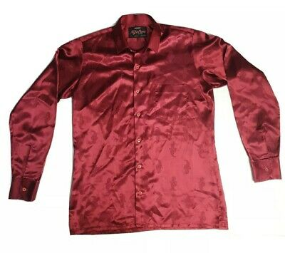 1970s Men's Shirt Styles – Vintage 70s Shirts for Guys Vtg 60s 70s CAMPUS Men's Polyester Ugly Disco  SATURDAY NIGHT FEVER Size L  $42.05 AT vintagedancer.com
