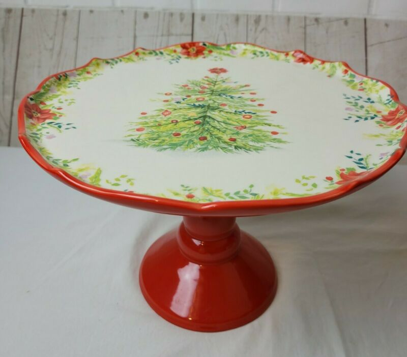 "Pioneer Woman Christmas Cake Stand 7"" X  10.5"""