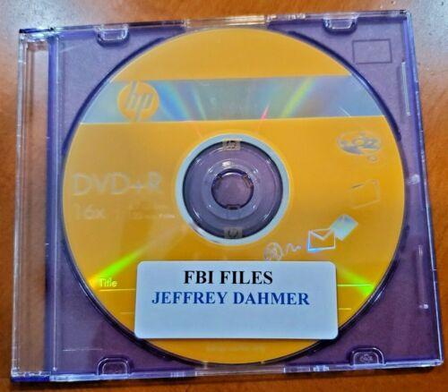FBI FILES OF SERIAL KILLER JEFFREY DAHMER FROM FBI HEADQUARTERS, 1,200 PAGES CD