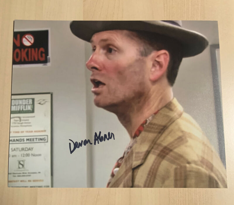 DEVON ABNER HAND SIGNED 8x10 PHOTO ACTOR AUTOGRAPHED THE OFFICE SHOW RARE COA