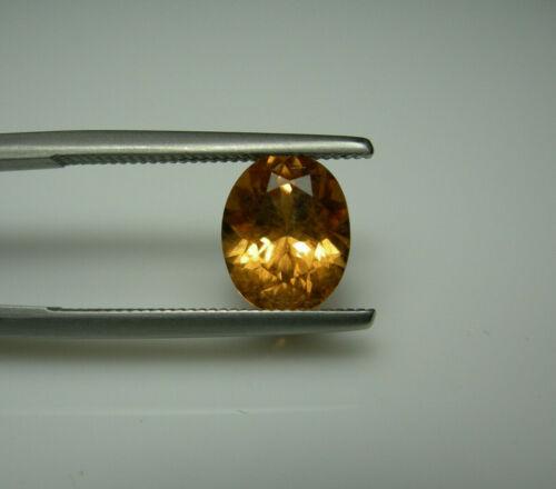 2.40ct rare Apricot Malaya Garnet gem Natural Malaia Gemstone Tanzania oval