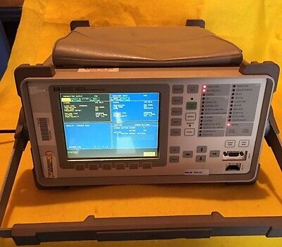 Hp Agilent Omniber Communications Performance Analyzer 37717c Woptions