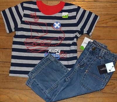 18 Month Jeans & T-Shirt Schatzkarte Piratenschiff Outfit Jumping Beans (Baby Piraten Outfits)