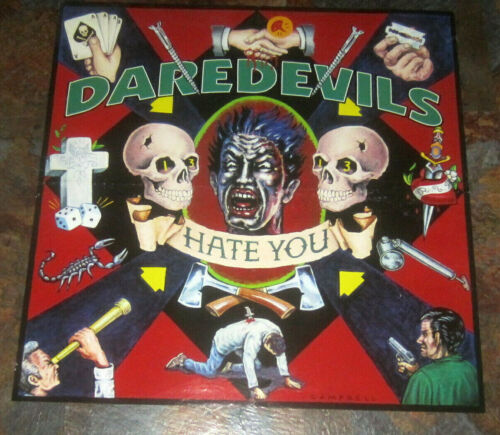 "DAREDEVILS Hate You original 24"" x 24"" 1996 POSTER Brett Gurewitz Bad Religion"