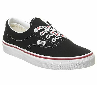 Womens Vans Era Trainers Black White I Heart Trainers Shoes