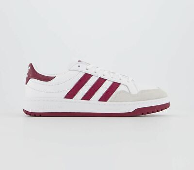 Mens Adidas Team Court Trainers White Collegiate Burgandy Core Black Trainers Sh