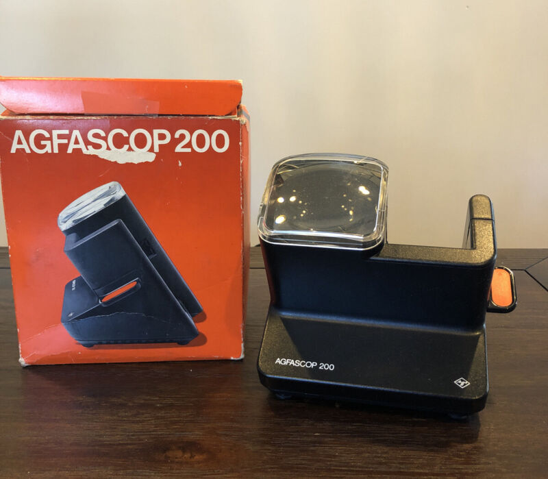 AGFA Agfascop 200 Slide Viewer For 5x5cm Slides