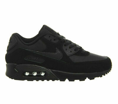 NIKE AIR MAX 90 MENS TRIPLE BLACK SUEDE CASUAL TRAINER SHOE UK 6-11 AVAILABLE