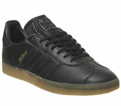 Adidas Gazelle Trainers Core Black Gum Trainers Shoes
