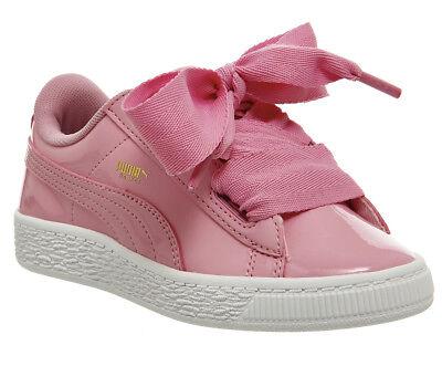 Kids Puma Basket Heart Ps Prism Pink Patent Kids