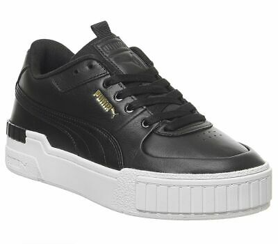 Womens Puma Cali Sport Trainers Black White Trainers Shoes