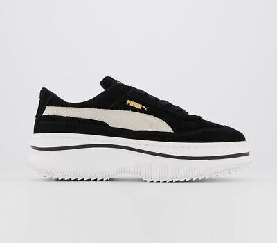 Womens Puma Deva Trainers Black Marshmallow Trainers Shoes