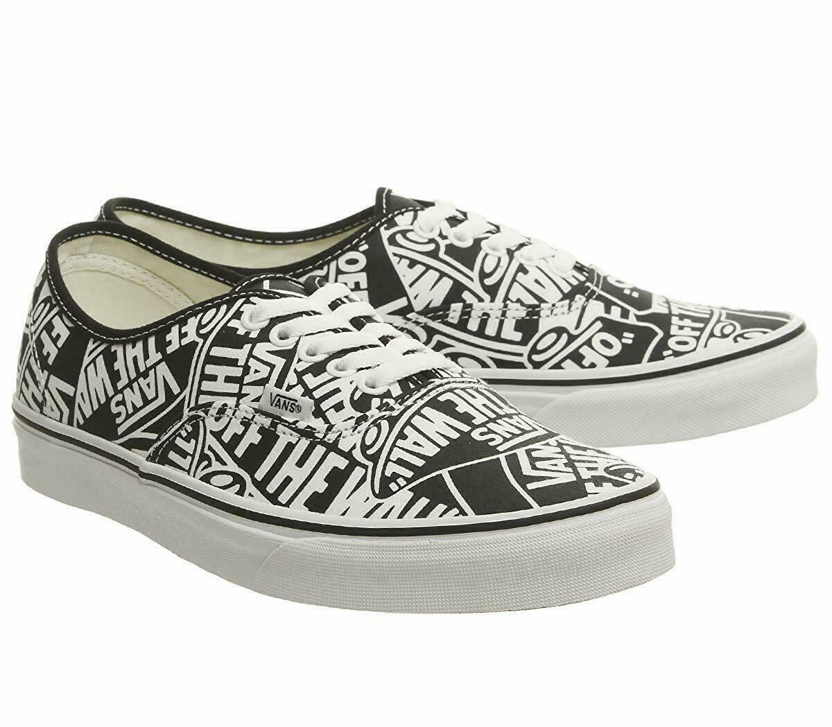 Vans UA Authentic OTW Repeat Black White Men Skate Shoes New