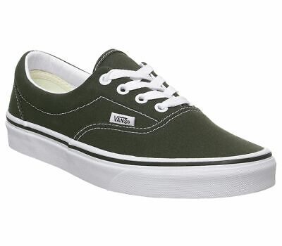 Womens Vans Era Trainers Forest Night True White Trainers Shoes