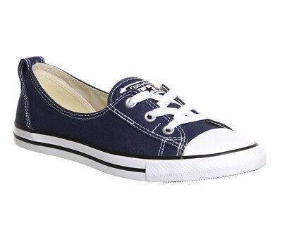 Converse Chuck Taylor Ballet Lace Slip Sneaker Damen Ballerina navy