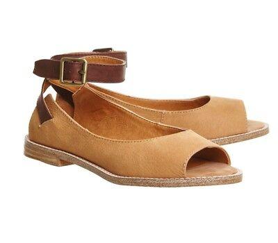 Tan Nubuck Kelsi Dagger Ankle Straps Peep Toe Shoe From Office Size 7