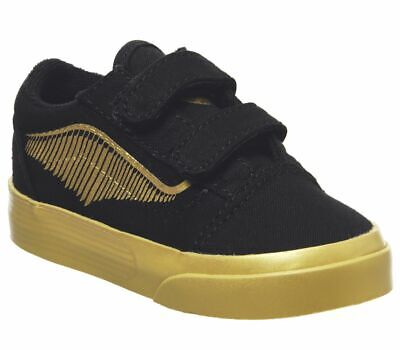 GENUINE TODDLERS KIDS HARRY POTTER OLD SKOOL GOLDEN SNITCH VANS TRAINERS - NEW