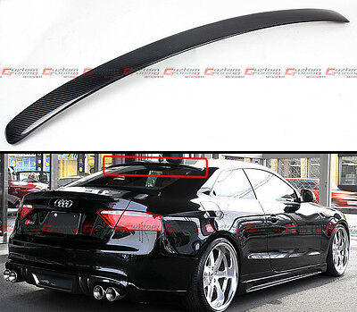 FOR 09-17 AUDI A5 Quattro S5 RS5 VIP CARBON FIBER REAR ROOF WINDOW SPOILER WING