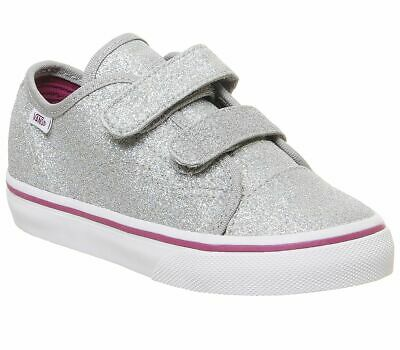 Kids Vans Style 23 V Trainers Glitter Silver True White Kids