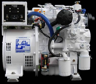7 Kw Diesel Marine Generator Kubota Keel Cool Dry Manifold