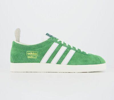 Adidas Gazelle Vintage Trainers Semi Flash Line White White Trainers Shoes