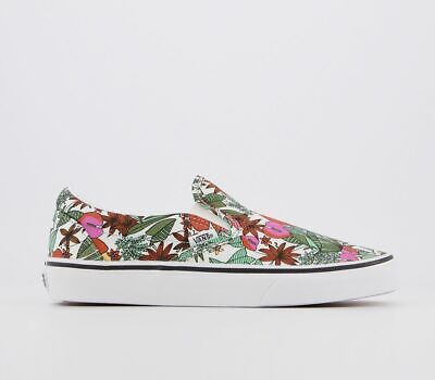 Womens Vans Vans Classic Slip On Trainers Multi Tropic Bit Of Blue True White Tr