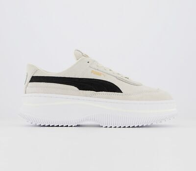 Womens Puma Deva Trainers Marshmallow Black Trainers Shoes