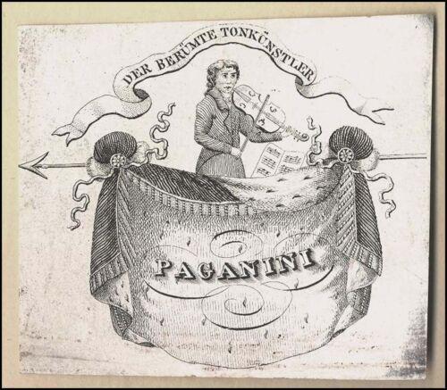 Nicolo PAGANINI (Composer): Origintal Concert Ticket Engraving