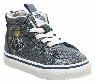 TODDLERS KIDS HARRY POTTER SK8-HI ZIP HOGWARTS METALLIC VANS TRAINERS NEW IN BOX