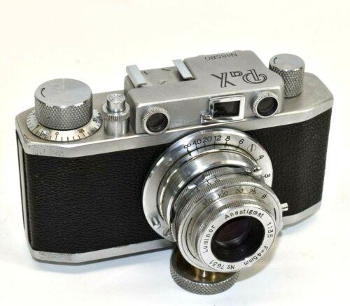 Yamato Pax 1 35mm Film Rangefinder Camera w Luminar 45mm Lens Parts Repair V15