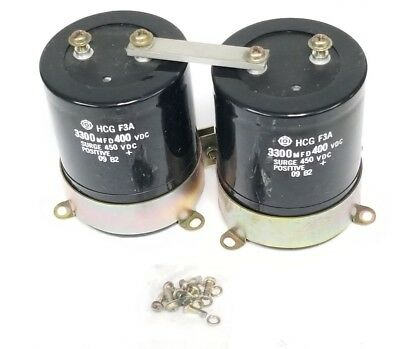 Lot Of 2 Generic Hcg-f3a 3300mfd 400vdc Capacitors Hcgf3a