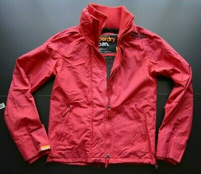 SUPERDRY WIND CHEATER MULTI-ZIPPER MENS RED 100% NYLON JACKET SIZE: MEDIUM